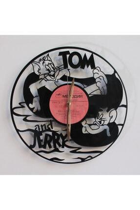 Tom And Jerry Tasarımlı Plak Saat plak