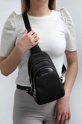 Silver Polo Sılver Polo Siyah Iki Bölmeli Kadın Bel Çantası Sp959 0