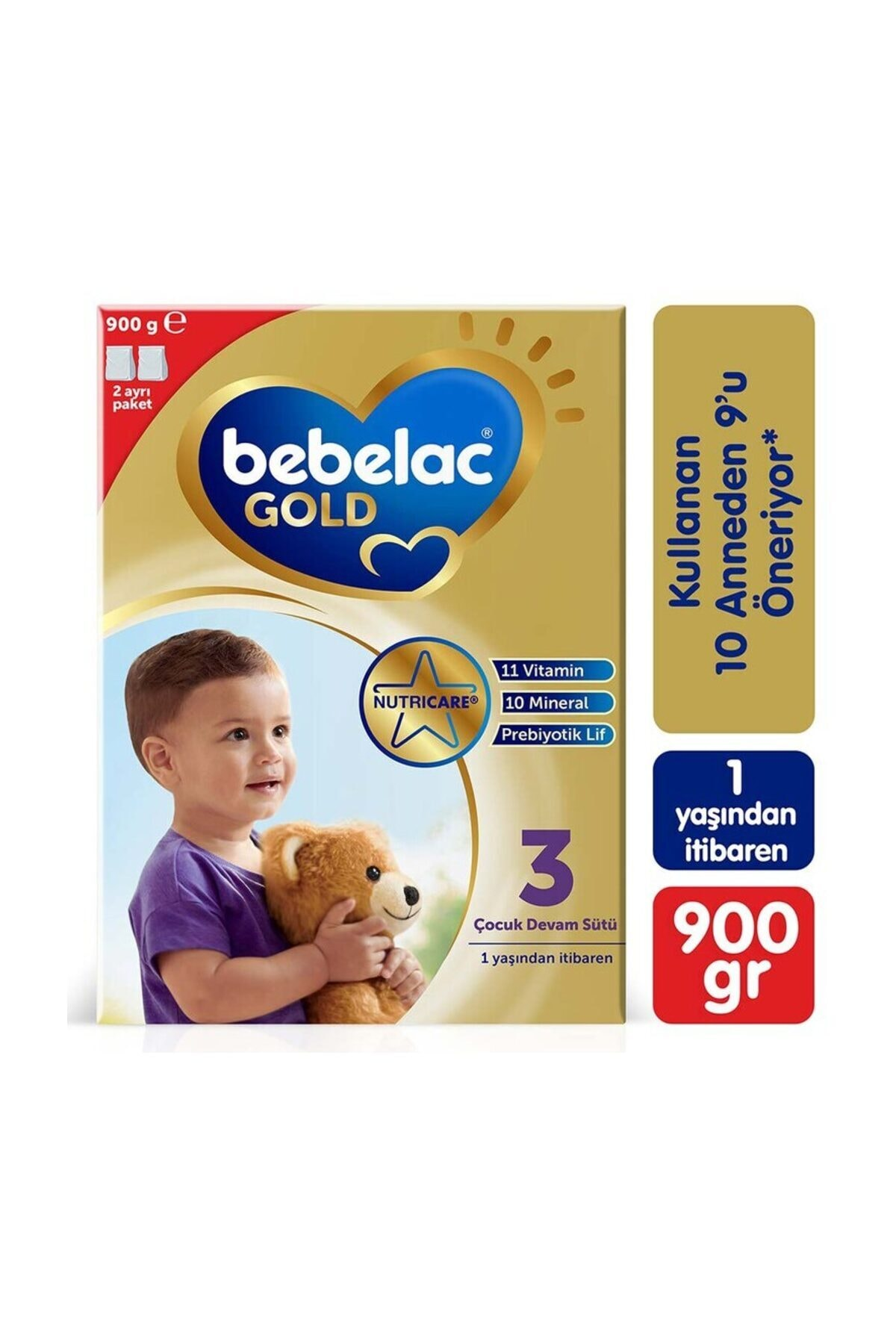 Gold 3 Numara Bebek Devam Sütü 900 gr