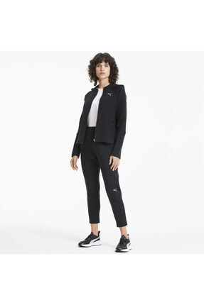 Puma EVOSTRIPE FZ Siyah Kadın Sweatshirt 101119404 2