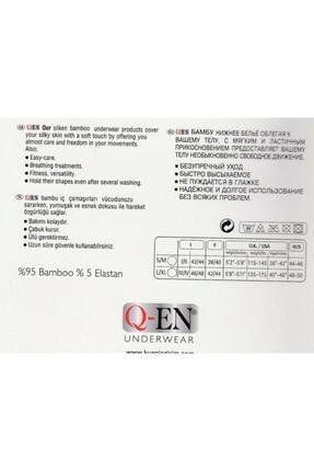 Q-EN 803 Kadın Siyah Ikom Bambu Kısa Sort Tayt 1