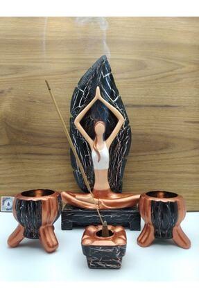 By Damla Collection Yoga Yapan Kız Tütsülük Ve Mumluk 4 0