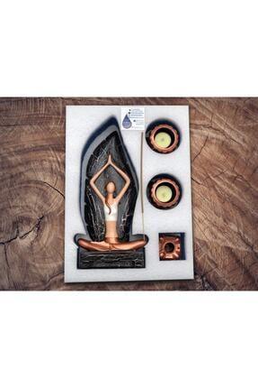 By Damla Collection Yoga Yapan Kız Tütsülük Ve Mumluk 4 3
