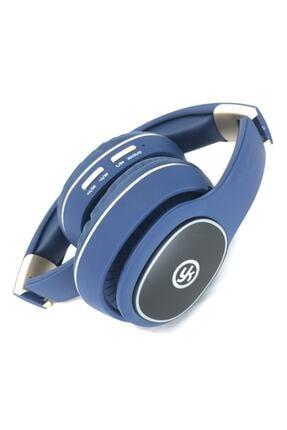 YK Design Rgb Led Işıklı Bluetooth Stereo Kablosuz Kulaklık Mavi  Sd Kart 2