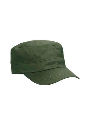 Onesize Fashion Castro Siyah Ve Haki Şapka Ikili Set 2