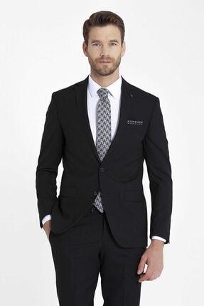 Hatemoğlu Siyah Slim Fit Takım Elbise 4