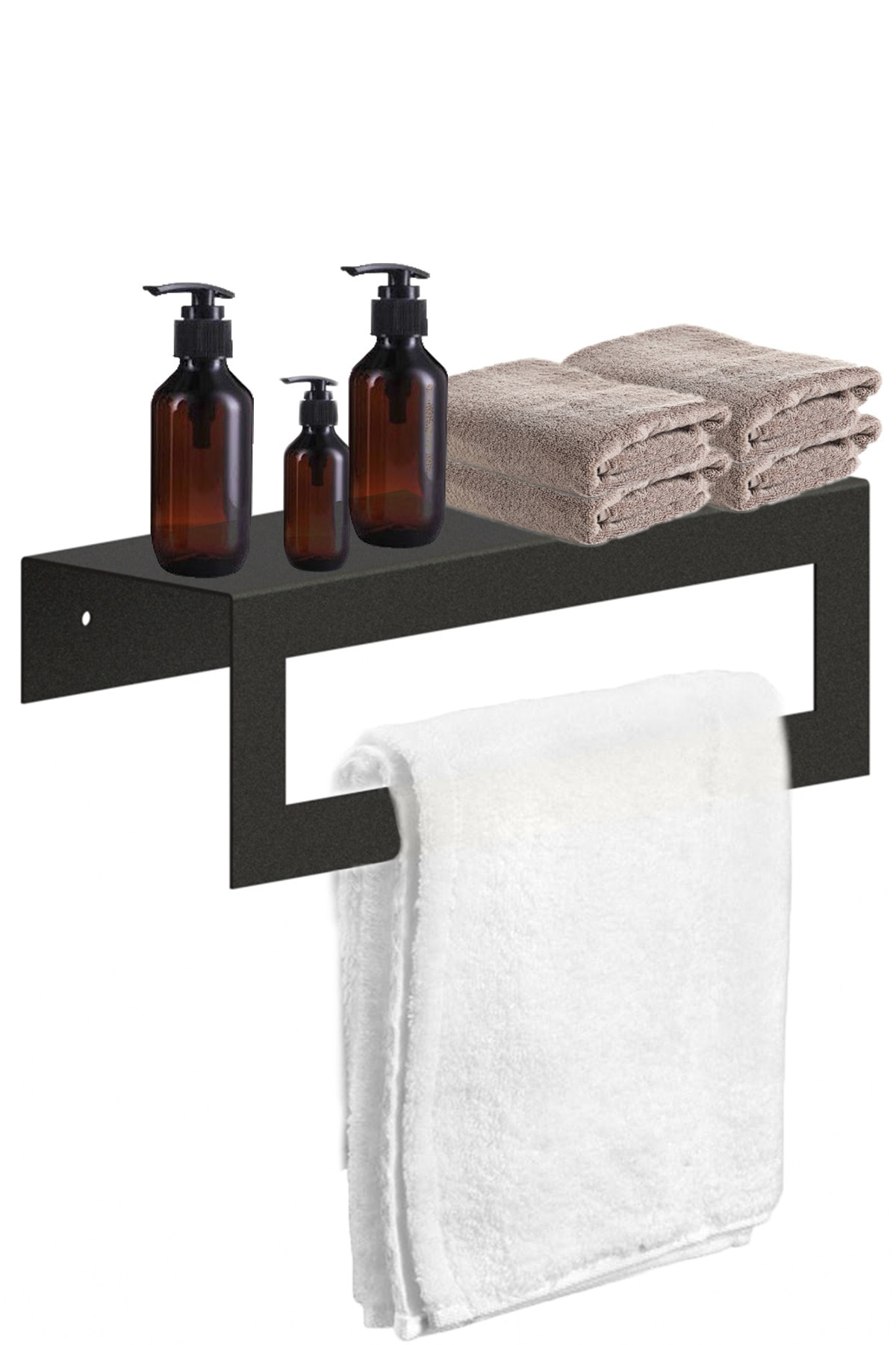 Banyo Havlu Askısı | Raflı Havluluk Ve Askı | Otel Banyo Askısı | Raflı Havluluk 30cm