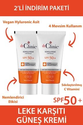 Dr. Clinic Güneş Koruyucu Krem Leke Karşıtı Spf 50 2 Li Set (50 ML 50 ML) 0