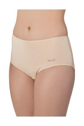 Kom Kadın Ten Basic Maxi 2'li Pamuklu Yüksek Bel Külot Ten Rengi 1
