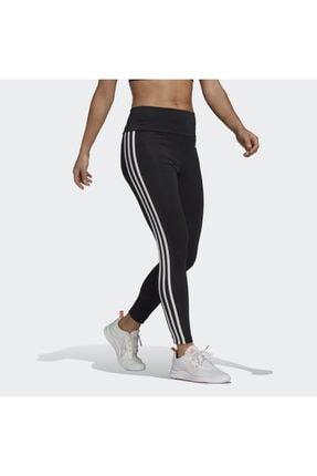 adidas Designed To Move High-rise 3-stripes 7/8 Kadın Siyah Tayt (GL4040) 2