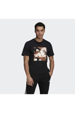 adidas Camo Bos Tee M Erkek Antrenman Tişörtü Gn6838 Siyah 0