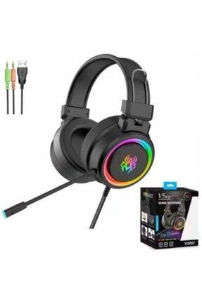 Yoro V5 RGB Siyah Oyuncu Kulaklığı 0