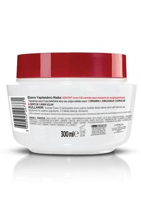 Elseve Komple Onarıcı 5 Yıpranmış Saçlar Için Keratinxs Içeren Yapılandırıcı Maske 300 ml 2