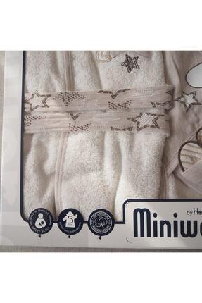 Miniworld Star 5'li Banyo Bornoz Seti Kahvrengi 2
