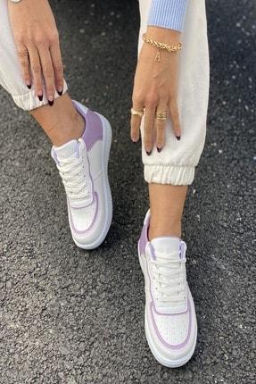 İnan Ayakkabı Kadın Beyaz Aır Taban Sneaker 4