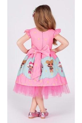 Mnk Kız Çocuk Pembe Tütülü 6 Yaş Elbise 1