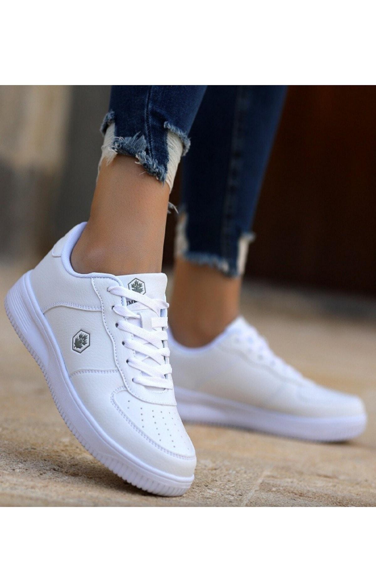 Finster Beyaz Air Force Kadın Sneaker Ayakkabı