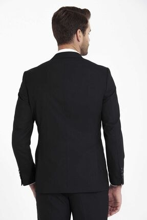 Hatemoğlu Siyah Slim Fit Takım Elbise 3