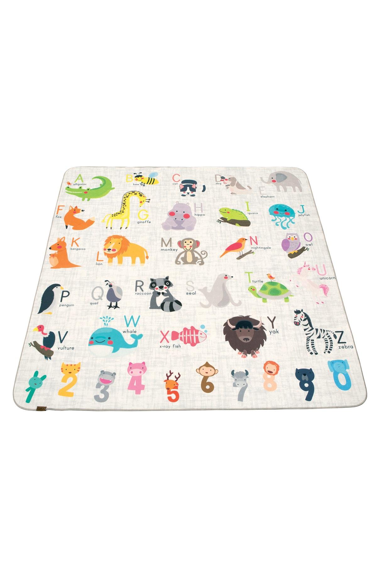 Animals 150x150 cm Oyun Matı Bebek Ve Çocuk Halısı