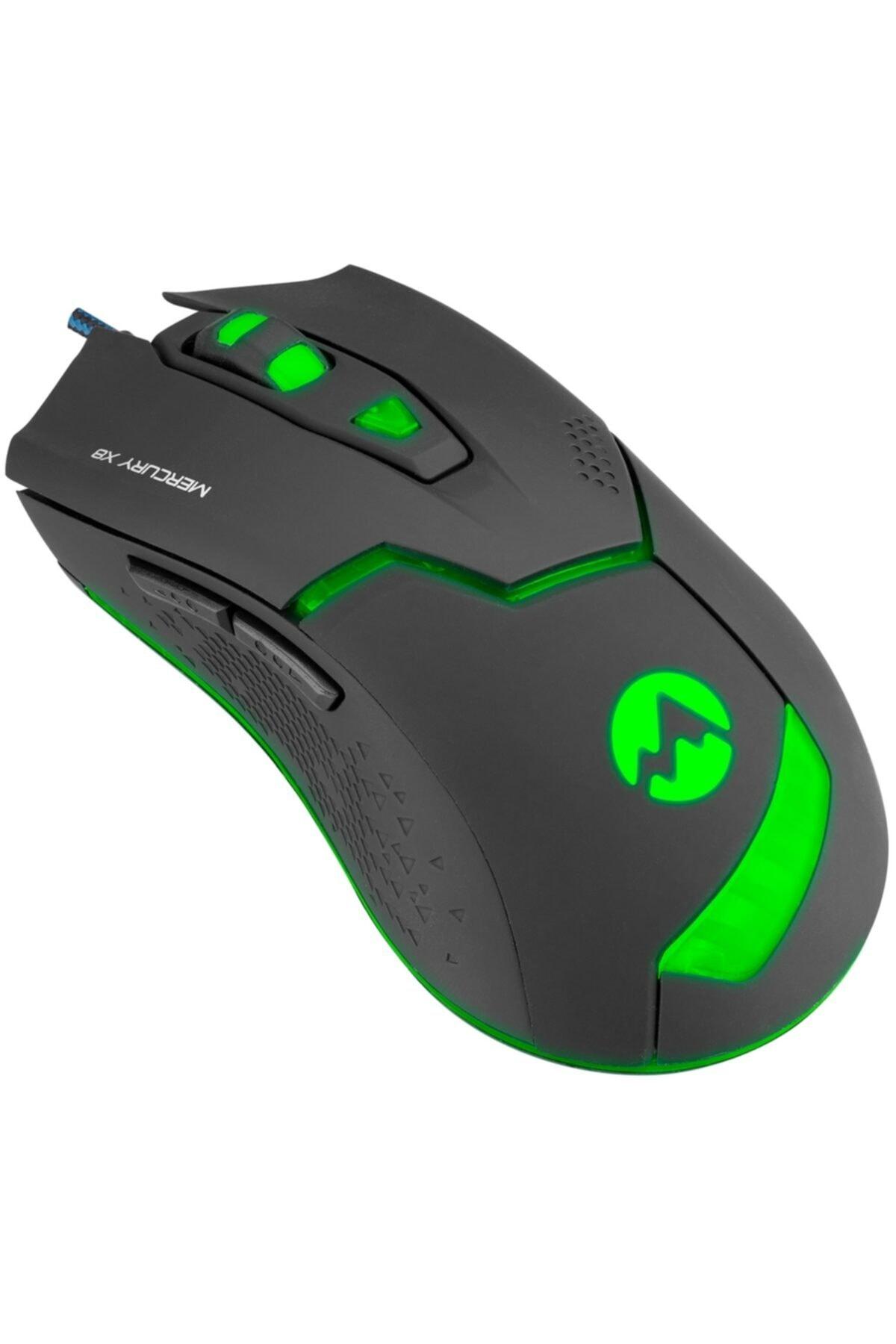 Mercury X8 Led Işıklı 6d 3200dpi Optik Gaming Oyuncu Mouse