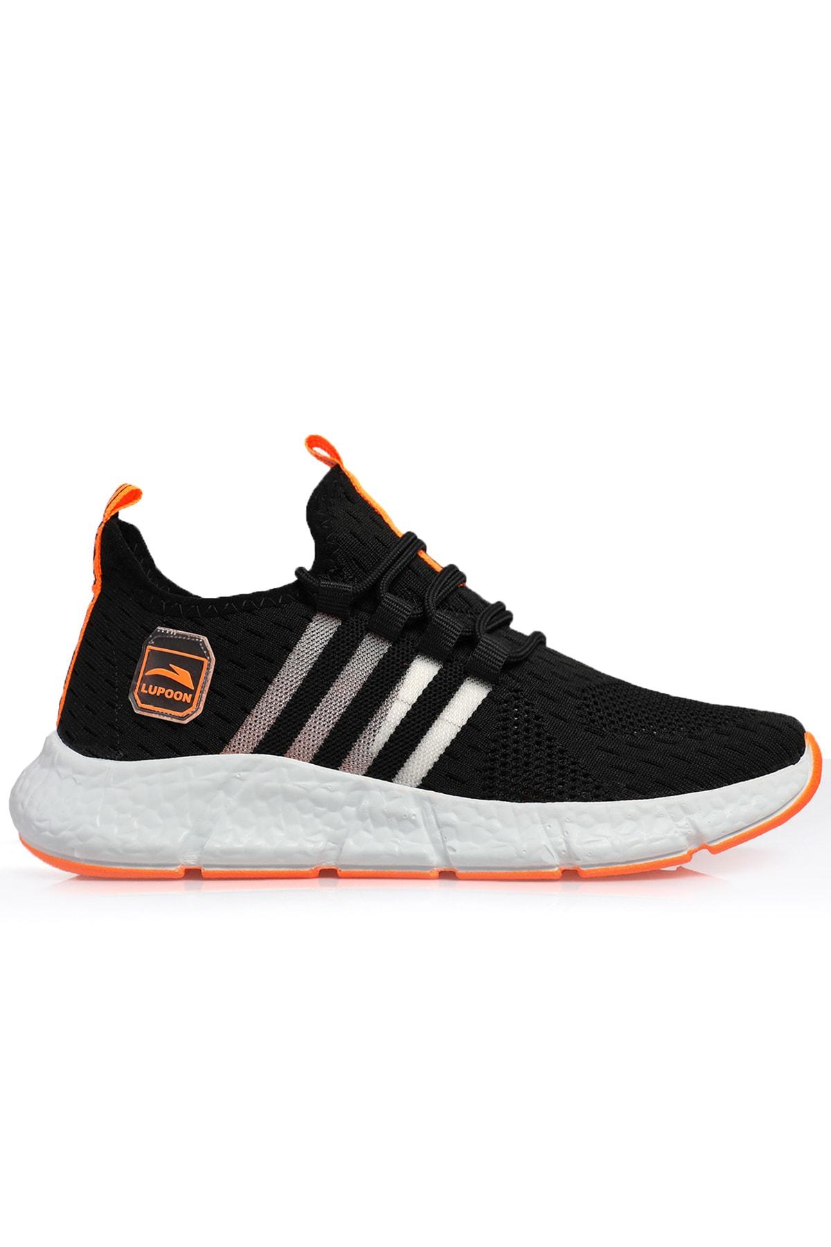 Siyah F. Orange Unisex Ortopedik Spor Sneaker Ayakkabı