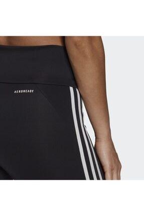 adidas Designed To Move High-rise 3-stripes 7/8 Kadın Siyah Tayt (GL4040) 4