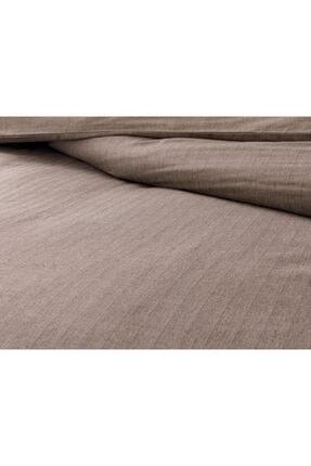 English Home Sharp Twill Suit Tek Kişilik Nevresim Takımı 160x220 Cm Kahve 3