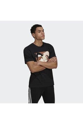 adidas Camo Bos Tee M Erkek Antrenman Tişörtü Gn6838 Siyah 2