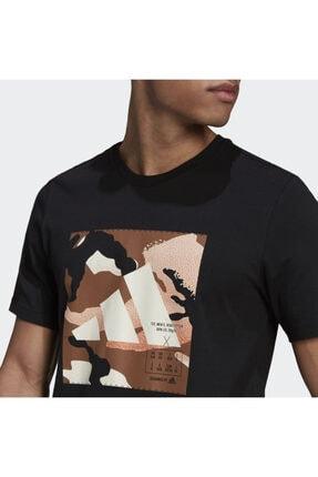 adidas Camo Bos Tee M Erkek Antrenman Tişörtü Gn6838 Siyah 4