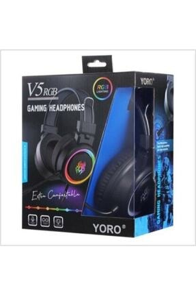 Yoro V5 RGB Siyah Oyuncu Kulaklığı 2