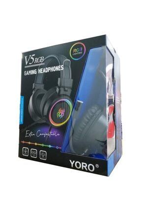 Yoro V5 RGB Siyah Oyuncu Kulaklığı 3