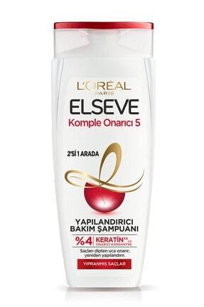Elseve Komple Onarıcı 5 Yıpranmış Saçlar Için Keratinxs Içeren Yapılandırıcı Bakım Şampuanı 2si1arada 450ml 1
