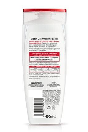 Elseve Komple Onarıcı 5 Yıpranmış Saçlar Için Keratinxs Içeren Yapılandırıcı Bakım Şampuanı 2si1arada 450ml 2