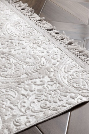 English Home Şal Desen Polyester Halı 120x180 Cm Vizon 2