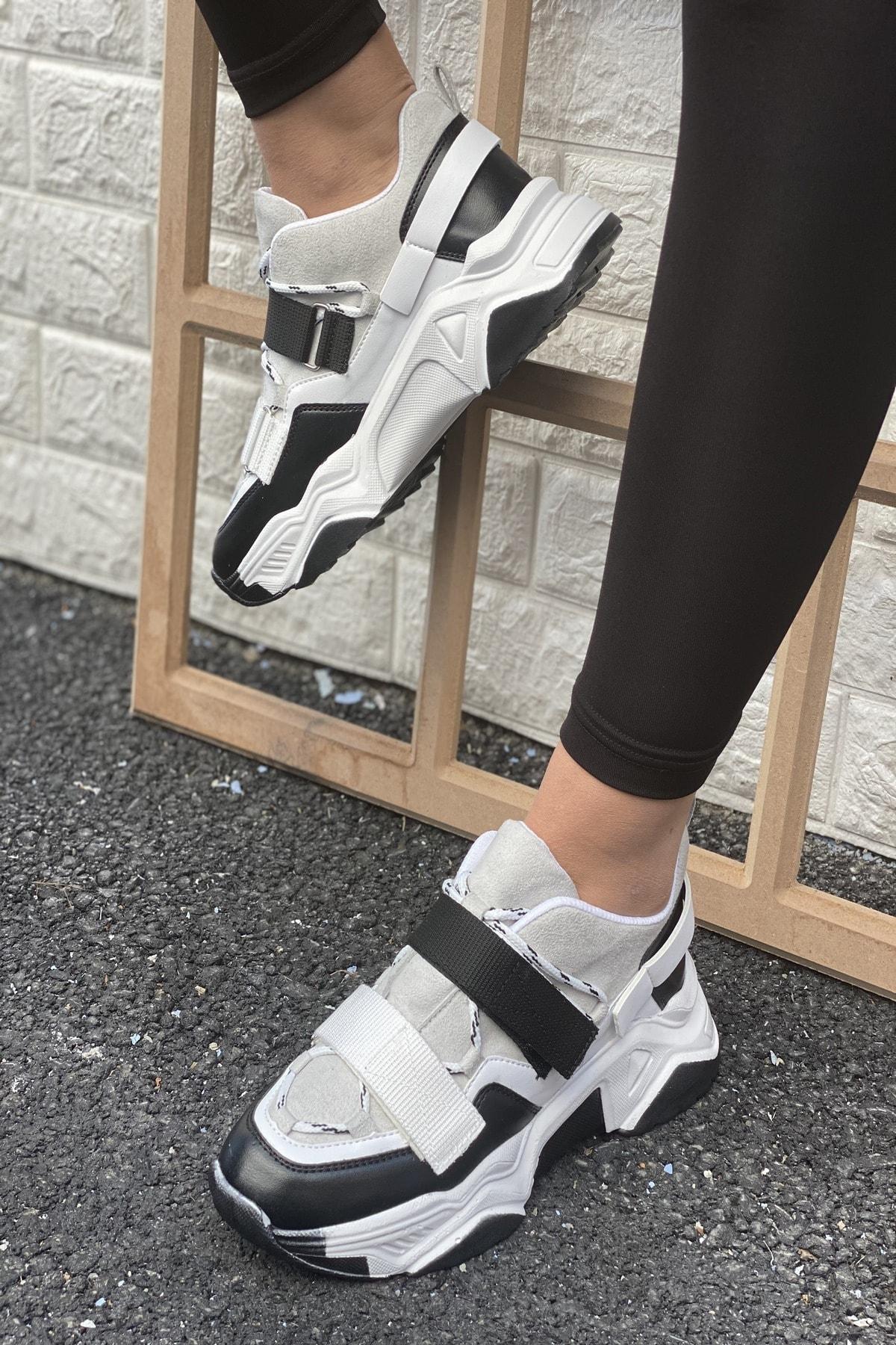 Kadın Siyah&Gri Ayakkabı&Sneaker INASPORT10