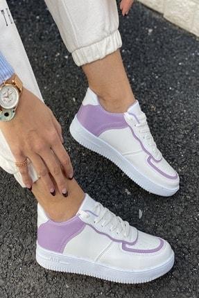 İnan Ayakkabı Kadın Beyaz Aır Taban Sneaker 2