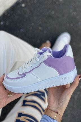 İnan Ayakkabı Kadın Beyaz Aır Taban Sneaker 3
