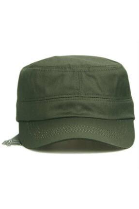 Onesize Fashion Castro Siyah Ve Haki Şapka Ikili Set 1