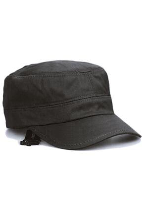 Onesize Fashion Castro Siyah Ve Haki Şapka Ikili Set 4