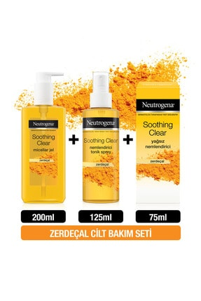 Neutrogena Soothing Clear Micellar Jel 200 ml + Tonik 125 ml + Yağsız Nemlendirici 75 ml 0