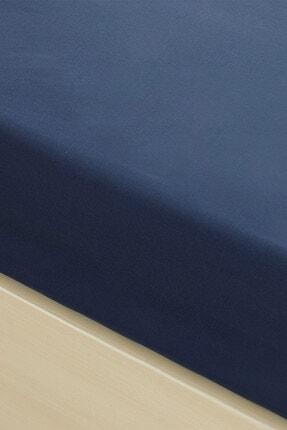 English Home Düz Penye Çift Kişilik Lastikli Çarşaf Takımı 160x200 Cm Gece Mavisi 1