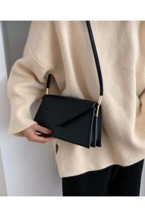 Siyah Renk Zarf Model Kadın Baget Çanta ZZALYA