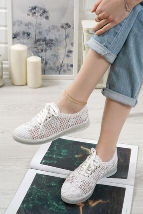 Danil Beyaz Dantel Kadın Spor Ayakkabı PP6116