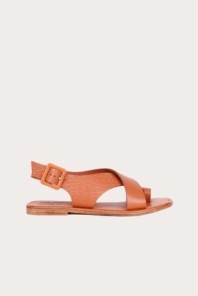 Bueno Taba Deri Kadın Düz Sandalet 01WS6903