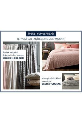 English Home Plain Super Soft Çift Kişilik Battaniye 200x220 Cm Pembe 4