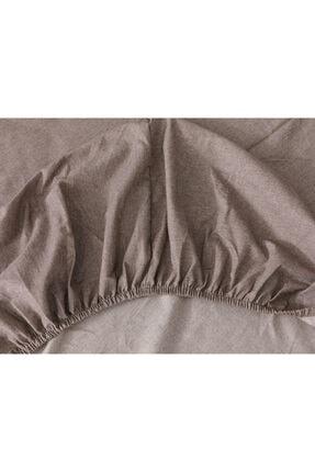 English Home Sharp Twill Suit Tek Kişilik Nevresim Takımı 160x220 Cm Kahve 4