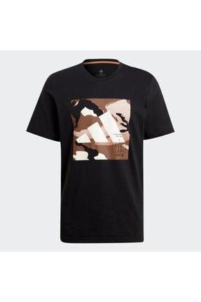 adidas Camo Bos Tee M Erkek Antrenman Tişörtü Gn6838 Siyah 3