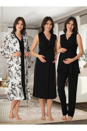 Effort Pijama E&s Collection Kadın Lohusa Hamile Set 8036 0
