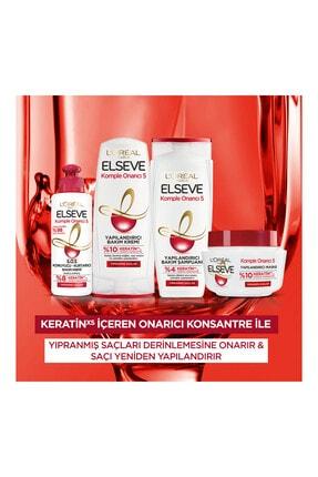 Elseve Komple Onarıcı 5 Yıpranmış Saçlar Için Keratinxs Içeren Yapılandırıcı Bakım Şampuanı 2si1arada 450ml 4