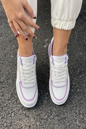 İnan Ayakkabı Kadın Beyaz Aır Taban Sneaker 1